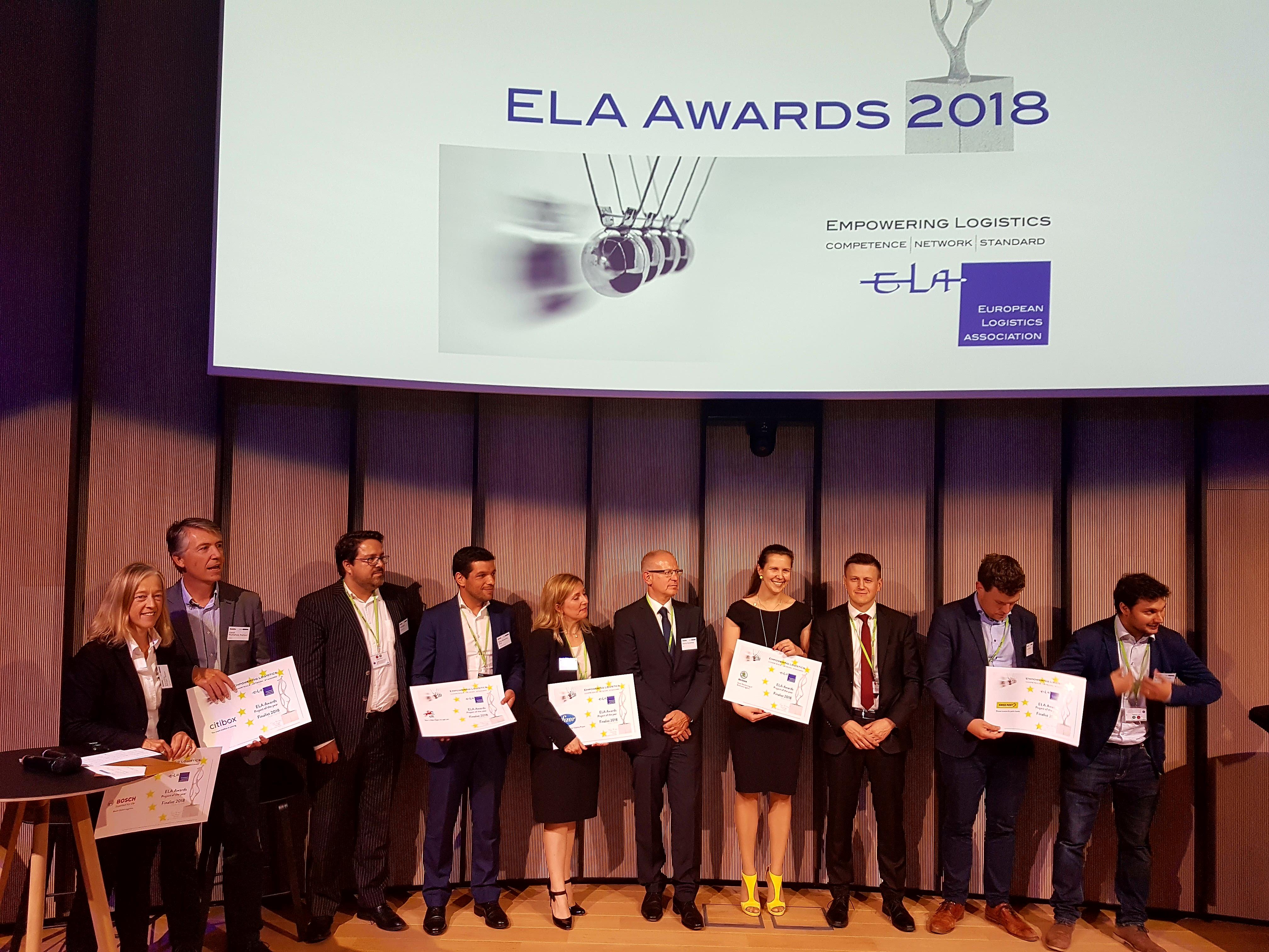 Nejlepší logistické projekty - ELA AWARD 2018